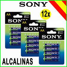 Pilas alcalinas AA LR6 1.5v 12X Sony Alkaline Power Alkalinas eco pack 3 Blister