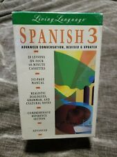 Living Language Spanish 3 Advanced CONVERSION  REVISED & UPDATED 4 CASSETTES