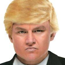 peluca hombres pelo corto Donald Trump adult blonde president costume party wig