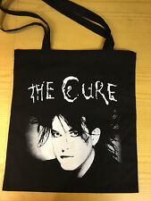 ROBERT SMITH (THE CURE) BLACK COTTON TOTE BAG