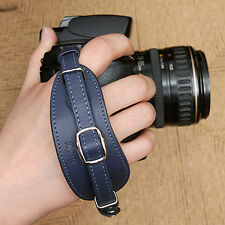 NEW CIESTA D-SLR RF Camera Leather Hand Grip Strap (Navy Blue) w/ Dovetail Plate