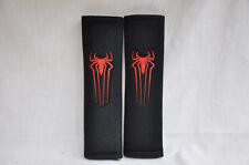 Spiderman Logo Sign Embroidery Black Plush Seat Belt Cover Shoulder Pad