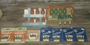 47 GE Vintage BULBS C91/2 Christmas Bulbs & Merry midget sets Multi color