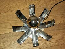 VINTAGE LAMPE CHROME METAL LAME INOX DESIGN 70 space age