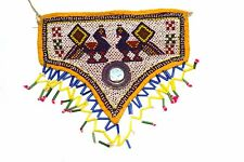 Vintage Rare Hand Embroidery Work Kutch Heavy Beaded Wall Hanging Décor. i17-364