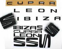 Emblem Folie Logo Set Carbon Schwarz für Seat Leon Ibiza Cupra Aufkleber Sticker
