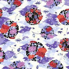 RJR Indigo Essence Asian Floral 100% cotton fabric by the yard