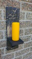 PILLAR SCONCE CANDLE HOLDER HANDMADE RECLAIMED RUSTIC SHABBY WOOD WALL MOUNTED