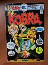 KOBRA #1 VF+ 1976 1ST APPEARANCE KOBRA BY JACK KIRBY! BLACK LIGHTNING TV SHOW!