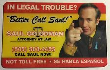 Saul Goodman - Business Card Novelty Plastic - Better Call Saul! - Breaking Bad