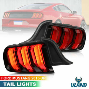 RED Full LED 5 Modes Tail lights For 2015-2020 Ford Mustang w/ Sequential