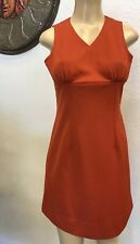 Vintage Coral Dress Small Handmade Pin Up Rockabilly Fitted Retro