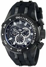 Invicta 0979 Reserve Bolt Gunmetal Dial Chronograph Swiss Made Polyurethane Band