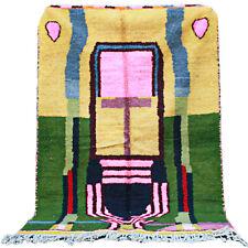 Vintage Moroccan Handmade Boujad Boujaad Rug Beni Ourain rug 5.1 FT X 7.8 F rug