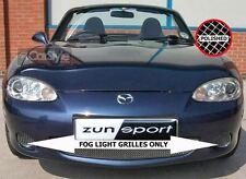 ZunSport Mazda MX-5 Polished Steel Mesh Mk2.5 Fog Lamp Grille Set (2002-05)