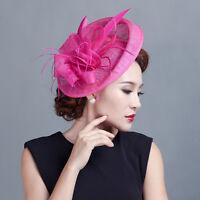 Lot Fascinator Flower Derby Headpiece Hat Hair Clip Wedding Ascot Races Brooches
