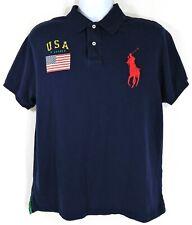 New listing Vintage Polo Ralph Lauren Polo Shirt Size Xl American Flag Big Pony Usa Navy