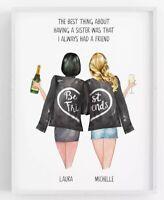 Personalised Sisters Gift,Friend Print,Friendship Present,Custom Print,Xmas Gift