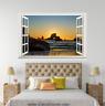 3D Sunset Rock 0221 Open Windows WallPaper Murals Wall Print AJ Carly