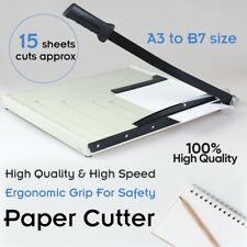 Premium Metal Paper Cutter Size A3 To B7 Guillotine Page Trimmer 15 Sheets Knife