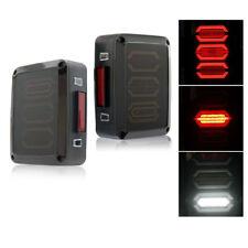 New listing Xprite G3 Led Diamond Tail Light Black with Smoke Lens For 07-18 Jeep Wrangler