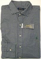 NWT $98 Polo Ralph Lauren Long Sleeve Shirt Mens Purple Green Plaid 100% Cotton