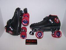 New Vanilla Renegade Custom Leather Roller Skates Mens Size 8 (Ladies 9)