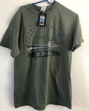 Original IOWA BATTLESHIP Los Angeles BB-01 Adult Army Green RARE New T-shirt M