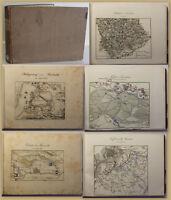 Rothenburg Schlachten-Atlas um 1840 Geschichte Militär Militaria Gefechte sf