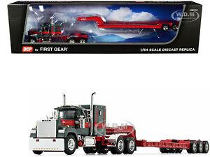 MACK SUPER-LINER TALBERT LOWBOY TRAILER GREEN & RED 1/64 DCP/FIRST GEAR 60-0977
