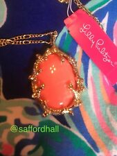 🐬🐳NWT LILLY PULITZER NECKLACE Coraline Orange Pendant 🌸🌺