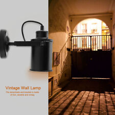 Vintage Retro Iron Black Industrial Sconce Wall Light Lamp Fixture Home 220v