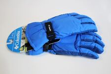 Columbia Gloves Size Youth Xl Omni Shield Water Repellent Royal Blue Black