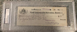 Al Ringling Brothers Bros Signed Cancelled Check PSA Authenticated Slabbed