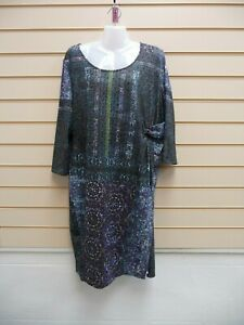 Together Womens Multi Print Dress Size 22 ( More like size 20 ) Jersey G037