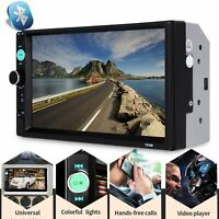 "2 DIN 7"" AUTORADIO BLUETOOTH HD MP5 LETTORE Controllo Remoto Mirror Link"