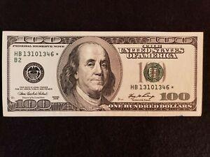 2006 $100 Dollar *Star* Note B 2  District NO FOLDS  Serial# H B 13101346*