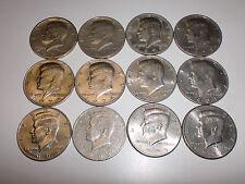 1971 1972 1973 1974 1979 1981 1991 1993 1996 Kennedy Half Dollar Coin Lot Of 12