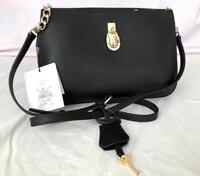 CALVIN KLEIN BLACK saffiano leather handbag H7GE15KS