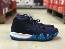 best service 97809 88e6d Nike Kyrie 4 Think Twice Mens Basketball Shoes Blue White 943806 401 NEW Sz  10.5