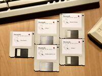 "Dischi Floppy 3,5"" System 6.0.5 Italiano per Macintosh Classic, 512Ke, SE, Plus"