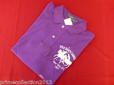 POLO RALPH LAUREN Polo Shirt Men's CLASSIC DUAL MATCH Purple Mesh Top BNWT R£110