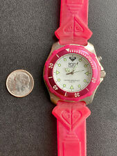 New listing Vtg Roxy Quiksilver Surf Swim Diver Chronograph Watch Pink Rx220 330ft Wow
