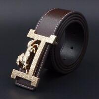 New Men Belts Luxury Brand Buckle Quality Belt Leather High 2017 Women Genuine