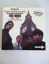 Anyway Anyhow Anywhere the Complete Chronicle of the Who 1958-1978 Neill Kent