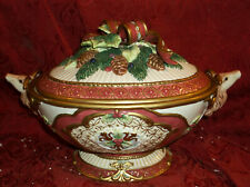 Exquisite Fitz & Floyd Florentine Christmas Tureen With Ladle - In Original Box