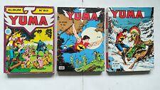 Lot de 3 albums BD petit-format YUMA ( années 80 / LUG )