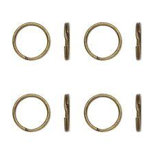 "50 Antique Brass Finish KEY RINGS 20mm Approx 3/4"" Split Ring ~ Steel Findings"