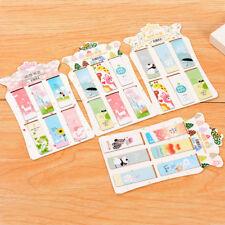6 pcs/lot Cute Kawaii Animal Paper Bookmark Lovely Flower Magnetic Book Marks Ko