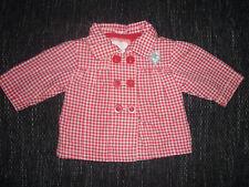 Baby Mädchen Jacke - Gr.50, Zeeman, Rot - Weiß kariert. Top !